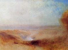Turner, Joseph Mallord William: Landschaft mit einem Fluss und einer Bucht in der Ferne (Landscape with a River and a Bay in the Distance)