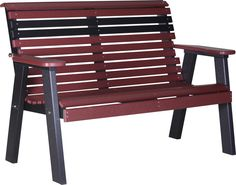 LuxCraft Rollback Recycled Plastic 4ft Bench