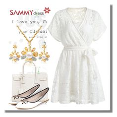 """""""Sammydress V-20"""" by azra-90 ❤ liked on Polyvore featuring Yves Saint Laurent"""