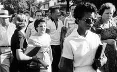Elizabeth Eckford was one of the Little Rock Nine, a group of #AfricanAmerican students who, in 1957, were the first black students ever to attend classes at Little Rock Central High School in Little Rock, #Arkansas. The integration came as a result of Brown v. Board of Education of #Topeka. Her image was captured and shown around the world after photographer Will Counts snapped her being chased by an angry white mob down the street.