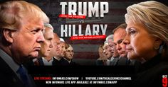 live coverage of the second presidential debate between Donald Trump and Hillary Clinton, with Alex Jones providing key insider information.