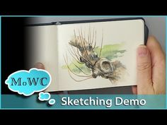 A quick and fun, Wet into Wet demonstration of a Pond in Mist painting. Easy to follow and learn. - YouTube