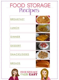 Food Storage Recipes from the girls at Food Storage Made Easy