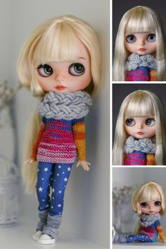 Blythe doll at STOCK Custom Blythe Doll Collection doll Handmade Doll OOAK doll…