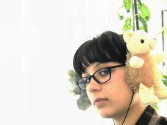 Stuffed animal headphones! Cute for old toys. I might do these for myself. (WurlitzerGirl on instructables has a how-to.)