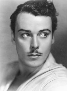 Nils Asther, Swedish Actor, 1920's silent film star, he was called the 'Prettiest Actor in Hollywood', by the Press, and the Studios called him, 'the Male Greta Garbo'. (Many actresses refused to work with him because of their fear that his beauty would upstage them).