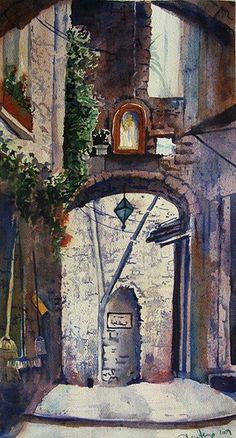 Wystemd   WATERCOLOR              Italian Scenery