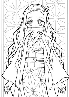 Anime Drawings Sketches, Anime Sketch, Cute Coloring Pages, Coloring Books, Anime Art Girl, Manga Art, Anime Lineart, Anime Character Drawing, Anime Tattoos