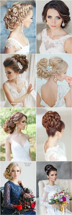 wedding updos and bridal hairstyles for long hair - Deer Pearl Flowers