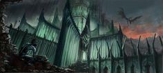 gollum nazgul lucfonzy Gollum lord of the rings Art smeagol minas morgul castle dragon dragons wallpaper background