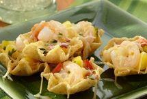 Shrimp Nachos with Mango Salsa