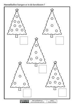 Hoeveel ballen hangen er in de kerstboom ? Preschool Christmas Crafts, Christmas Arts And Crafts, Christmas Math, Noel Christmas, Christmas Activities, Christmas Themes, Preschool Activities, Christmas Worksheets, Creative Arts And Crafts