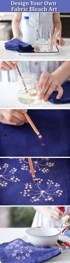 Bleach designs needs parents supervision for kids! Wearing your old clothes during your DIY craft working. Materials You'll Need Bleach gel pen, or pencils and a bottle of bleach; Colored garment,clothes or bag Design steps: 1. Use one colored garment, … Continued