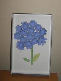 Tableau fleuri en carton, Activité manuelle et bricolage enfant