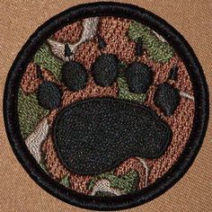 Cool boy scout patches Camo Bear Claw Patrol Patch (#048) Patchtown.com
