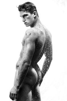 Wet man by Francois Rousseau
