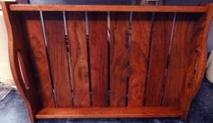 Leftover hardwood flooring into tray!