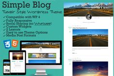 Simple Blog - Tumblr Style WP Theme by @Graphicsauthor