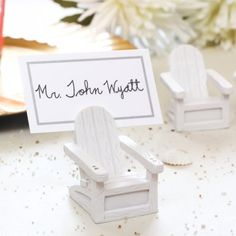 The elephant with its raised trunk represents good luck in many Eastern cultures, and it can convey how lucky you feel to have found the love of your life as you celebrate your engagement or wedding. What better way to wish those you love and cherish by sharing a little luck with them with these adorable lucky elephant place card holders?