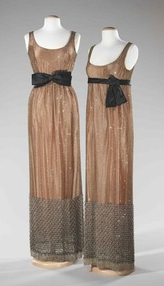 Norman Norell dresses ca. 1963 via The Costume Institute of the Metropolitan Museum of Art