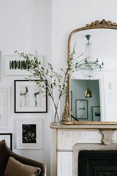 Decoration Chic, Decoration Bedroom, Decoration Inspiration, Decor Ideas, Wall Ideas, Wedding Decoration, Entryway Decor, Design Inspiration, Mirror Ideas