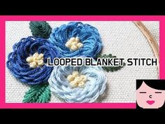 looped blanket stitch flower embroidery 루프드 블랭킷 스티치 꽃자수 - YouTube