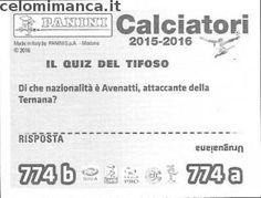 Calciatori 2015-2016: Retro Figurina n. 774 Luigi Vitale - Alberto Masi