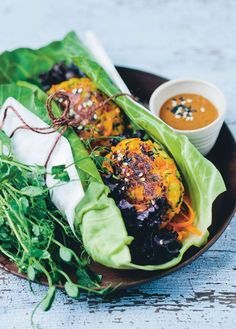 Halloumi veggie burgers by David Frenkiel and Luise Vindahl Andersen from Green Kitchen Travels | Cooked