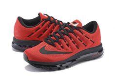 buy popular 4d59b 587b1 Nike Air Max 2016 Men Mesh Black Red Shoes