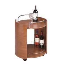 Baxton Studio Contemporary Walnut Brown Serving Cart