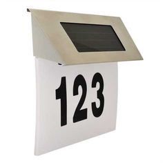 Solar House Numbers, Flip Clock, Led Lamp, Cube, Home Decor, Decoration Home, Room Decor, Home Interior Design, Home Decoration