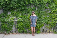 megan nielsen design diary: tutorial: how to make a ruffle off the shoulder dress