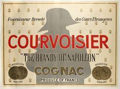 cognac Courvoisier, the brandy of Napoleon -