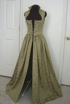Sage Renaissance Over Gown Dress Made to Fit you!!! Limited RUN                                                                                                                                                                                 More