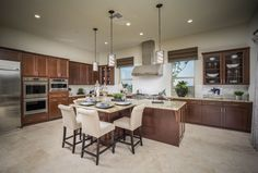 Residence 1 - Plan 2861 New Home Plan in The Ridge at Blackstone by Lennar Stained Kitchen Cabinets, California Room, Eagle Homes, Spa Like Bathroom, New Home Construction, New House Plans, New Homes For Sale, Walk In Pantry, Dream Rooms