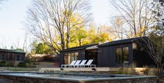 General Assembly specified our MONOGATARI shou sugi ban charred cypress exterior siding for this unique Shelter Island, NY pool house