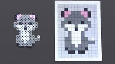 Image result for perler bead wolf
