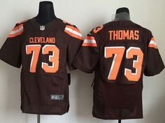 """$23.88 at """"MaryJersey""""(maryjerseyelway@gmail.com) Nike Browns 73 Joe Thomas Brown Team Color Men Stitched NFL New Elite Jersey"""