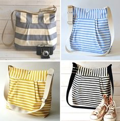 DIY bags! SO cute! If I made it big enough ans added tons of pockets inside...!!!