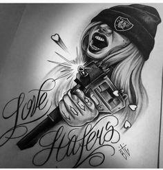 Chicano Tattoos, Chicano Style Tattoo, Chicano Drawings, Gangsta Tattoos, Body Art Tattoos, Hand Tattoos, Girl Tattoos, Tattoos For Women, Leg Sleeve Tattoo