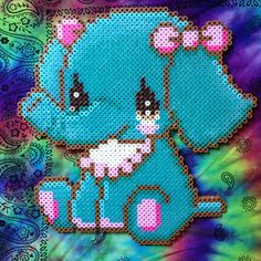 Baby elephant toy perler beads by ginaspazz