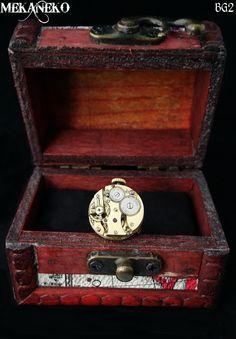 Bague steampunk mécanisme de montre à gousset