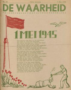 1 mei: Dag van de arbeid. (De Waarheid, 1 mei 1945)