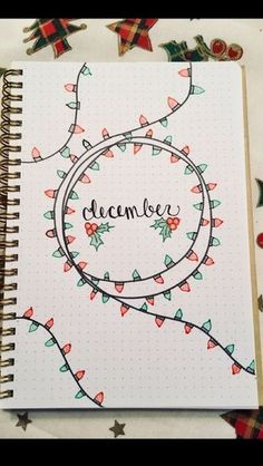 Inspiration for the December Bullet Journal page .-Inspiration für die Dezember-Bullet-Journal-Seite Inspiration for the December Bullet Journal page …, - Bullet Journal School, Bullet Journal Inspo, Bullet Journal Simple, Planner Bullet Journal, Bullet Journal Page, Bullet Journal Christmas, December Bullet Journal, Bullet Journal Aesthetic, Bullet Journal Spread