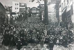 Atatürk'ün naaşının Sarayburnu'na götürülmesi 1938 Salı Pazarı. Enli Yokuş