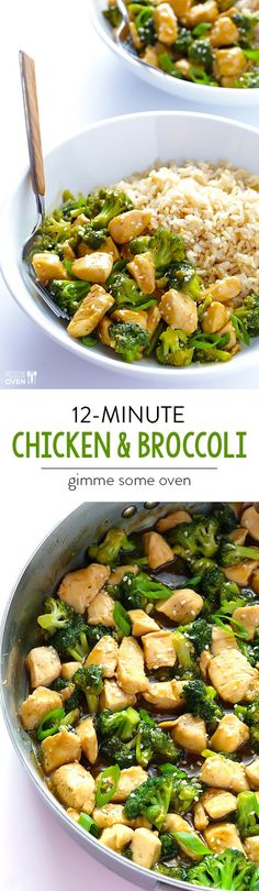 12 minute chicken & broccoli, quick and easy to prepare, and perfect when served over rice or quinoa or just plain! I Love Food, Good Food, Yummy Food, Tasty, Asian Recipes, Healthy Recipes, Quick Recipes, Bariatric Recipes, Delicious Recipes