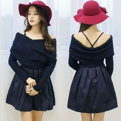 """Sweet two-piece sweater dress. Use this coupon code """"playbanovici"""" to get all 10% off!"""
