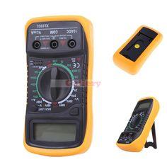 Xl830l Mini Portable Digital Multimeter Current Voltage Resistance Transistor Hfe Temperature Tester Multimetro with Lcd Backlit