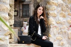 Italian fashion blogger Alessia wearing a Chanel bag, visits Umbria