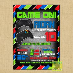 Video game party invitation video game birthday party printable gaming invitation video game invitation video game birthday video games invitation diy video games party gaming party invitation diy stopboris Gallery